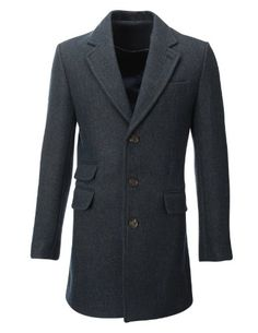 FLATSEVEN Mens Winter Tweed Coat Long Jacket Wool (CT901) Blue, M FLATSEVEN http://www.amazon.com/dp/B00HZEUOOQ/ref=cm_sw_r_pi_dp_u-B0ub093Q0TP #Winter Tweed Coat #Men #fashion #FLATSEVEN #coat #Long jacket