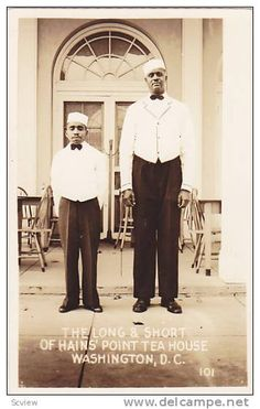RP, Black Waiters, The Long & Short Of Hain´s Point Tea House, Washington, D. C., 1920-1940s Item number: 117105254 SCVIEW - Delcampe.com