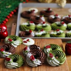 Winter Desserts, Holiday Baking, Christmas Desserts, Christmas Treats, Christmas Baking, Kawaii Cooking, Christmas Cookies Gift, Easy Homemade Recipes, Food Crush