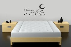 Kids Wall Decal I Love You To The Moon And Back by walldecalquotes