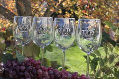 Personalized Wine Glass, Personalized Bridesmaids Gifts,  Rhinestone Embellished Crown   $18.00, via Etsy.