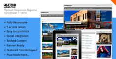 Awesome theme: Ultim8 - Responsive Drupal 7 Magazine and News Theme | Themesnap.com