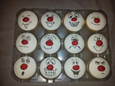 My comic relief cakes :-) Red Nose Day Cupcakes, Teddy Bear Cupcakes, Twins Cake, Cupcake Images, Celebration Day, Cartoon Faces, Fabulous Foods, Themed Cakes, No Bake Cake
