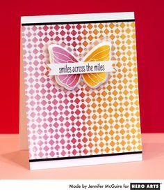 Hero Arts Pink to Orange Ombre by Jennifer McGuire