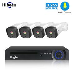 Hiseeu 8CH 1080P POE NVR CCTV Security System 4PCS 2.0MP Audio Record IP Camera IR P2P Outdoor Video Surveillance Kit 1TB HDD Review Cctv Security Systems, Channel Branding, Cheap Cameras, Waterproof Camera, Types Of Cameras, Surveillance System, Brand Store, Ip Camera, Hdd