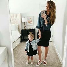 Resultado de imagen para matching outfits for mom and daughter So Cute Baby, Mom And Baby, Baby Love, Cute Babies, Baby Kids, Baby Girl Fashion, Toddler Fashion, Kids Fashion, Mother Daughter Outfits