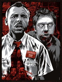 You've Got Red on You by Anthony Petrie.Behance                                                   Shaun of the Dead