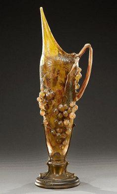 ** Daum Frères, Nancy, Acid Etched, wheel carved Glass Vase.