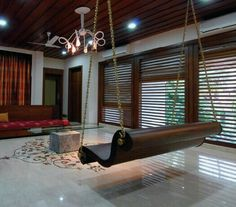 Modern Indian room with ethnic touch