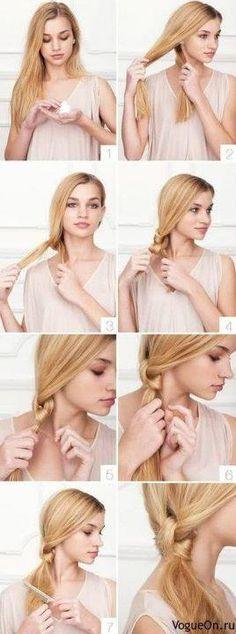Tuto coiffure : couette noeud dans coiffure, cheveux 408388_374219555946024_19449412_n
