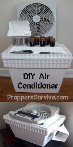 Little Known Ways to Build Inexpensive Air Conditioners - Preppers Survive Homemade air conditioner