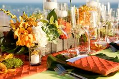 great centerpiece for a tropical party!