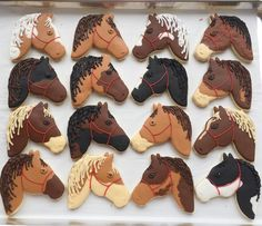 Horse decorated cookies Pony Ride Birthday Party, Horse Birthday Parties, Cowgirl Birthday, Birthday Cakes For Girls, 10 Birthday, Birthday Ideas, Horse Cookies, Cake Cookies, Iced Cookies