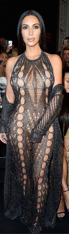 Kim Kardashian': Jumpsuit – Balmain  Shoes – Sophia Webster