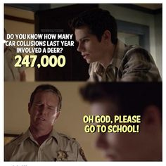 Dylan O'Brien (Stiles) & Linden Ashby (Sheriff Stilinski) - Teen Wolf