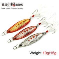 Aliexpress.com : Buy 1 piece Metal fishing spoon fishing bait Jig head spoon lure with very sharp hooks 10g/15g from Reliable spoon ring suppliers on Enjoy Outside