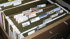 Use labels from bills for file organization...umm duh! Such a great idea!