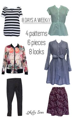 Sew a capsule wardrobe with patterns from 8 Days a Week by Pattern Anthology - sewn by Melly Sews