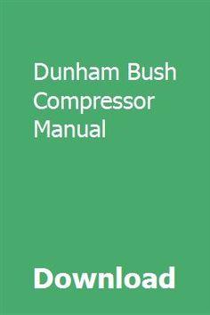 dunham bush chiller manual