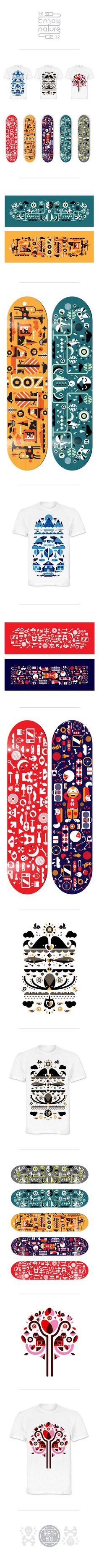 Skateboard designs 2012 by Adam Quest, via Behance