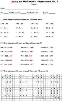 Mathematik Aufgaben der 3. Klasse mit Lösungen | 3. o matek ...