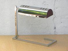 Vintage Modern Architectural Chrome Cantilever Desk by ilikemikes $299