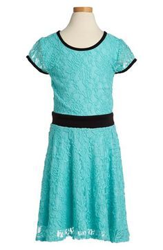 Sally Miller Cap Sleeve Lace Dress (Big Girls) available at #Nordstrom