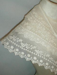 Beautiful 1820's Embroidered Muslin Pelerine | eBay