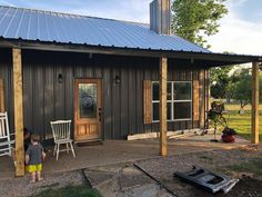 Wrapping the steel beams on the front porch this morning. Wrapping the steel beams on the front porch this morning. Building A Porch, Metal Building Homes, Metal Homes, Building A House, Pole Barn House Plans, Pole Barn Homes, Porch Kits, Floor Plan Drawing, Steel Beams