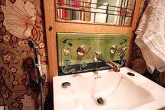 Custom made tiles for a bathroom. Wall Tiles, Art Nouveau, Sink, Bathtub, Bathroom, Design Styles, Handmade, Fashion Design, Home Decor
