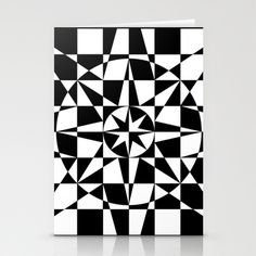 Black & White Star Stationery Cards by V. Kharuzhy