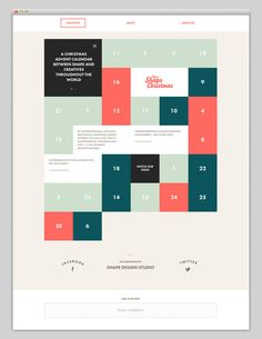 Web / Its Shape Christmas (Stunning Calendar Design) — Designspiration