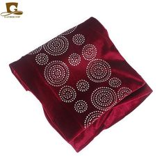 abf7b053d2a 2018 New elegant rhinestone velvet long turban headscarf head wrap women  hijab Nigerian Turban Women Turbante