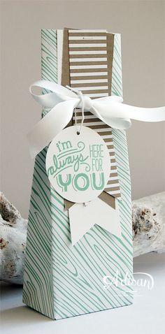 GIft Bag Punch Board, Envelope Paper, Banner Triple Punch, Friendly Wishes -Inge Groot-