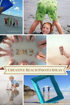 These creative beach photo ideas are the perfect way to capture all those precious vacation memories! | Saving by Design