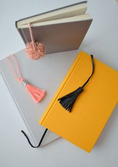 Tassel and Pom Pom Bookmarks / 33 DIY Gifts You Can Make In Less Than An Hour via BuzzFeed)