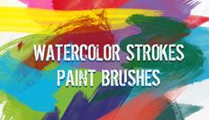 Watercolor Strokes Paint Brushes - You The Designer