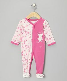 Take a look at this Pink 'Shining Star' Mouse Footie - Infant by Vitamins Baby on #zulily today!