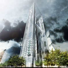 Skyscrapers in Seoul: Chicago architects Murphy/Jahn have designed two towers under one roof for the western side of South Korea's new commercial centre, the Yongsan International Business District of Seoul