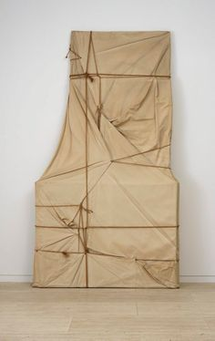 Christo ~ Wrapped Paintings, 1968 (stretched canvases, tarpaulin, rope)