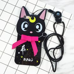 Hot Selling 3D Cute Cartoon Cosplay Sailor Moon Cat Luna Soft TPU Phone Case For iphone 7 7plus 6 6s plus Kitty Back Cover Capa