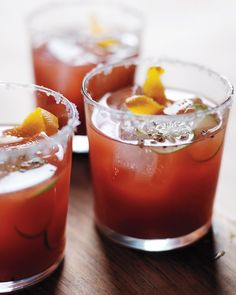 A Bloody Mary becomes a Bloody Maria when you swap tequila for vodka. We also cut the tomato juice with crimson blood-orange juice -- a great cocktail for Easter brunch.