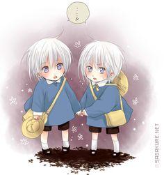 Anime Baby Twins Cute Cartoon Babies 21128wall.png