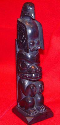 Native argilite carving