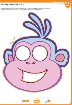Dora the Explorer Free Printable Masks.
