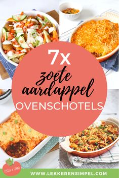 7x zoete aardappel Sweet Potato Casserole, Sweet Potato Recipes, Clean Eating Diet, Clean Eating Recipes, Tasty, Yummy Food, Good Food, Easy Cooking, Cooking Recipes