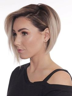 Women's Blonde Straight Medium Bob Hairstyles Synthetic Hair Capless Wigs Short Hairstyles For Thick Hair, Medium Bob Hairstyles, Short Hair With Layers, Curly Hair Styles, Layered Hairstyles, Hairstyles 2018, Short Hair For Women, Bob Haircuts, Hairstyle Short
