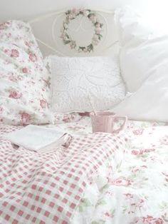 romantic pink bedroom