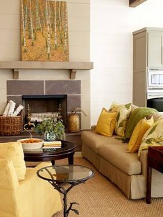 Decorating with Yellow: Walls, Accessories, and Accents  ©Ethan Allen