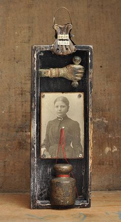 ⌼ Artistic Assemblages ⌼ Mixed Media, Journal, Shadow Box, Small Sculpture & Collage Art - cynkowe poletko (blog)